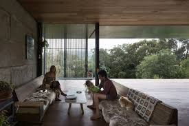 concrete block houses innovative family home built of reclaimed concrete blocks