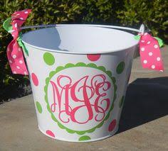 monogrammed easter buckets personalized easter basket 10 quart by happythoughtsgifts