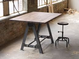 bar height table industrial hand made industrial a frame table kitchen island bar by