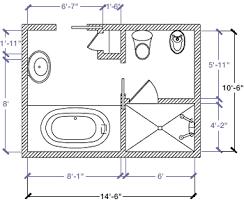 4 X 7 Bathroom Layout 14 Bathroom Floor Plans Trend Home Design And Decor 14 X 7