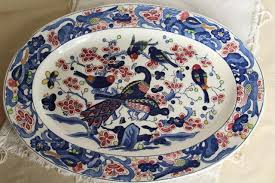painted platter vintage portugal pottery platter or tray painted ceramic