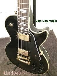epiphone les paul custom pro electric guitar 2014 model black
