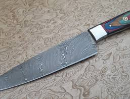 kitchen knives with sheaths damascus kitchen knives set with leather sheaths