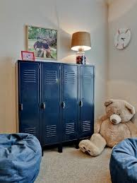 kids lockers for home these blue lockers so great for organizing a kids room