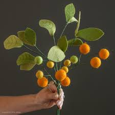 billy balls felt orange flowers and leaves lia griffith