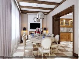 cream brown dining room silver pendant lights interior design ideas