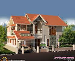 western style spacious 3 bhk house kerala home design and floor