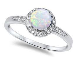 opal promise ring fancy rose gold plated art deco opal promise