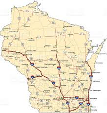 Wisconsin Map by Wisconsin Highway Map Stock Vector Art 136239012 Istock