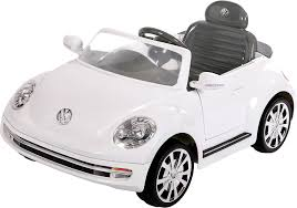 toddler motorized car vw aria child vw beetle ride on vehicle white kmart