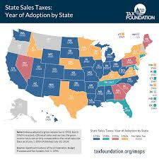 Map Of The United States Please by History Of Sales Tax In The United States Heinonline Blog