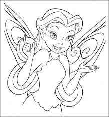 tinkerbell coloring pages throughout free tinkerbell coloring