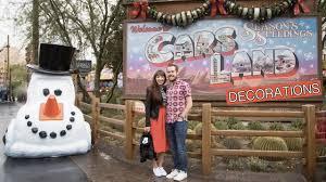 season u0027s speedings from cars land christmas decorations youtube