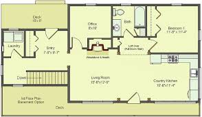 ranch house floor plans with basement possible floor plan for 1 000 sq ft bungalow basement would need