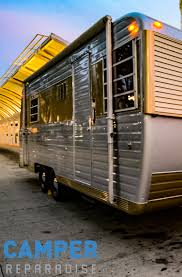 the 1966 boles aero with a customized concession window by camper