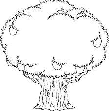 Tree Coloring Pages Sheet Booksforkids Drawing Page Of A Branches Tree Coloring Pages