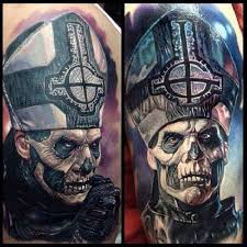 priest of death horror 3d tattoo ideas tattoo designs