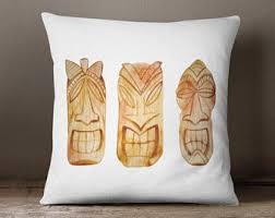 Tiki Home Decor Tiki Pillow Etsy