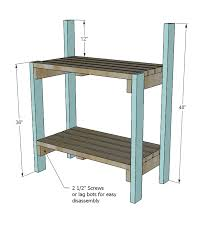 Free Simple Wood Bench Plans by Ana White Simple Potting Bench Diy Projects