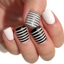 black and white nail arts fashion fuz