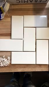 Straight Herringbone Tile Backsplash Tutorial  Create  Enjoy - Herringbone tile backsplash