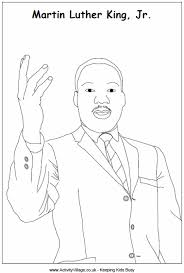martin luther king colouring