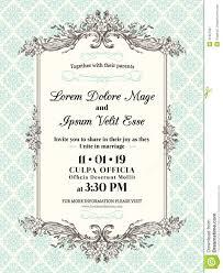vintage wedding invitation border and frame stock vector image