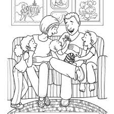 living room furniture colouring pages coloring pages family
