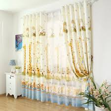Blackout Yellow Curtains Discount Cartoon Giraffe Yellow Kids Curtains For Bedroom