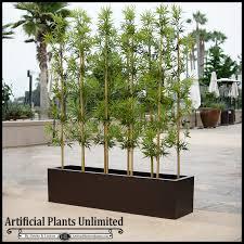 4 u0027l bamboo indoor artificial grove in modern planter