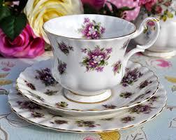 vintage china pattern royal albert sweet violets vintage china teacup trio c 1966