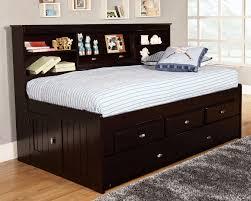 Queen Bed With Twin Trundle Bedroom Twin Captains Bed With 6 Drawers Captains Beds Queen