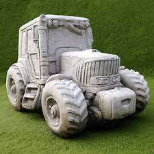 garden ornament concrete tractor planter ebay