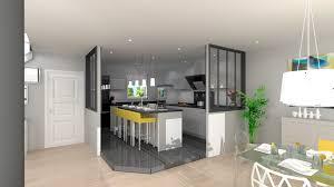 deco salon cuisine ouverte cuisine ouverte avec ilot semi galerie avec decoration salon