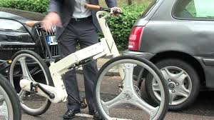 bmw folding bicycle pacific if mode full size folding bike work or play youtube