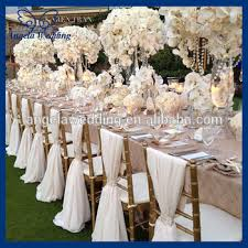 chair sash buckles sh003a wholesale cheap fancy wedding ivory chiffon chair