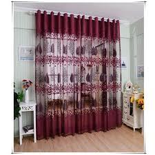 modele rideau chambre feuilles de haut grade européens modèle moitié ombrage grillée