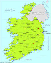 ireland map map of republic of ireland with cities and towns