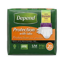 halloween underwear depend briefs protection with tabs maximum s m 20 count rite aid