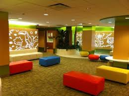 Pediatric Room Decorations The Jungle Themed Waiting Area Of The Renovated Pediatric