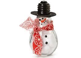 snowman light bulb craft ideas