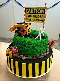 construction cake ideas construction themed baby shower sew woodsy