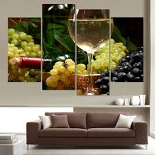 aliexpress com buy canvas painting 4 piece canvas art white wine
