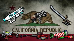 Califirnia Flag Pixel Gun 3d California Flag Color Weapons Review Gameplay
