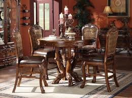 cherry classic counter height dining table w carved details