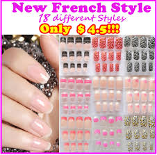 fake acrylic nails set new frech style acrylic fake nail set