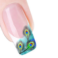 peacock feather nail art stickers blue peacock classic phoenix art