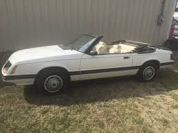 1983 mustang glx convertible value ford mustang convertible 1983 white for sale 1fabp2730df144964