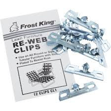 Rewebbing Patio Furniture by Frost King 12 Pack Re Webbing Clips Cl1 Do It Best