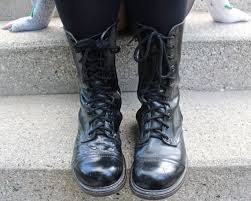womens combat boots size 9 90s black combat boots vintage genuine leather shoes boot size